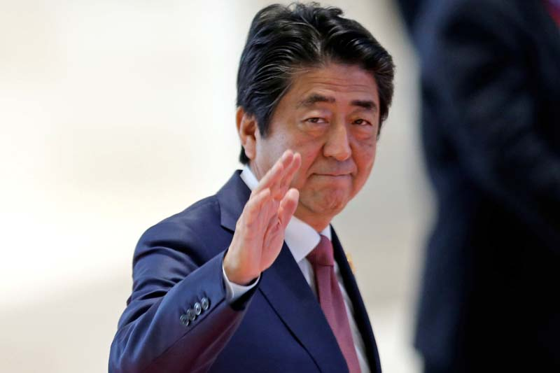 Japan's Prime Minister Shinzo Abe arrives at the ASEAN Summit in Vientiane, Laos on September 7, 2016. Photo: Reuters