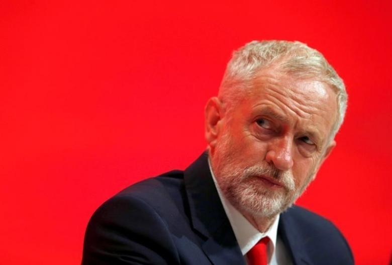 The Leader of Britain's opposition Labour Party, Jeremy Corbyn listens to a speech on the first day of the Labour Party conference, in Liverpool, Britain September 25, 2016.  REUTERS/Peter Nicholls/File Photo