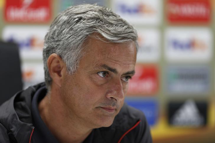 Britain Soccer Football - Manchester United Press Conference - De Kuip Stadium, Rotterdam, Netherlands - 14/9/16nManchester United manager Jose Mourinho during the press conferencenAction Images via Reuters / Matthew ChildsnLivepic