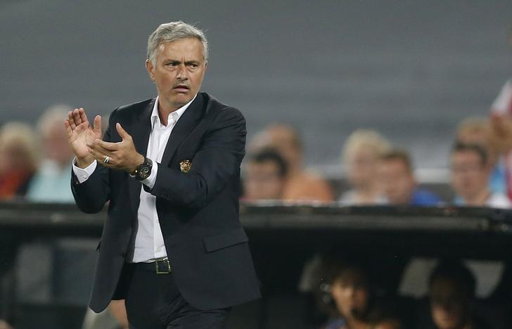 Football Soccer - Feyenoord v Manchester United - UEFA Europa League Group Stage - Group A - De Kuip Stadium, Rotterdam, Netherlands - 15/9/16nManchester United manager Jose Mourinho nAction Images via Reuters / Matthew ChildsnLivepic