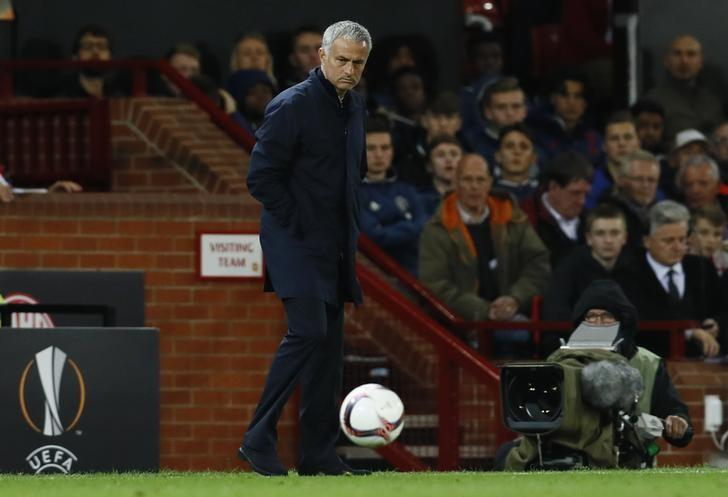 Britain Soccer Football - Manchester United v FC Zorya Luhansk - UEFA Europa League Group Stage - Group A - Old Trafford, Manchester, England - 29/9/16nManchester United manager Jose MourinhonAction Images via Reuters / Jason Cairnduff/ Livepic