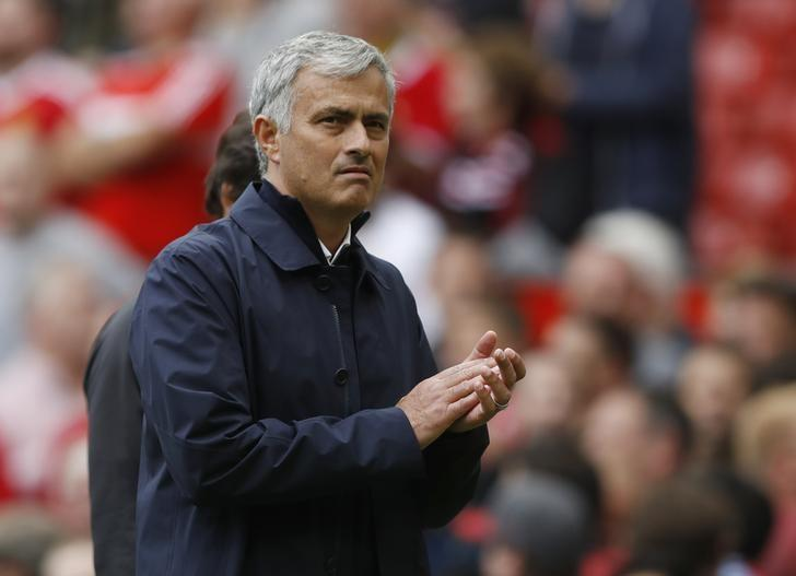 Britain Soccer Football - Manchester United v Manchester City - Premier League - Old Trafford - 10/9/16nManchester United manager Jose Mourinho at the end of the matchnAction Images via Reuters / Carl RecinenLivepic