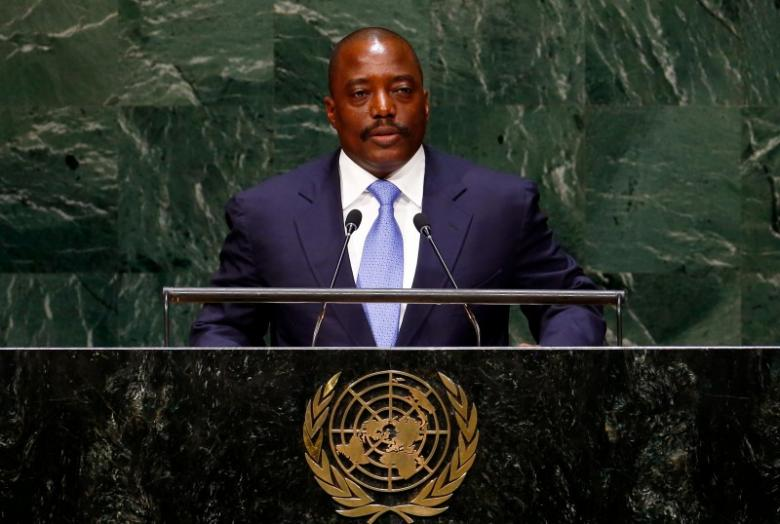 Joseph Kabila Kabange, President of the Democratic Republic of the Congo, addresses the 69th United Nations General Assembly at the U.N. headquarters in New York September 25, 2014.  REUTERS/Lucas Jackson/File Photo -