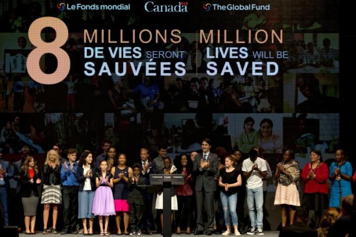 Canada's Prime Minister Justin Trudeau makes closing remarks to the Fifth Replenishment Conference of the Global Fund to Fight AIDS, Tuberculosis, and Malaria in Montreal, Quebec, Canada September 17, 2016. REUTERS/Christinne Muschi