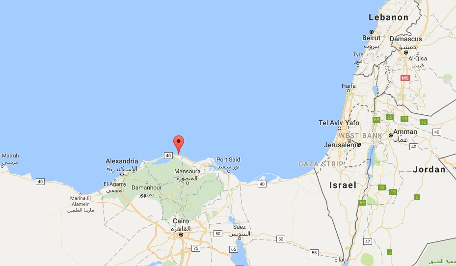 Illegal migration boat has capsized off the coast of Kafr al-Sheikh in Egypt. Google Maps
