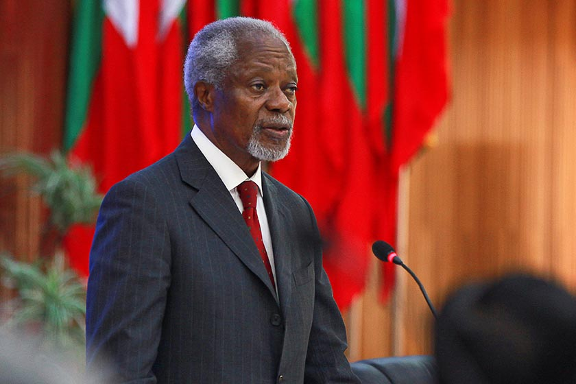 Former UN chief Kofi Annan addresses an advisory commission in Sittwe, Myanmar, September 6, 2016. Photo: Reuters