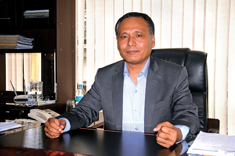 Interview with Kul Man Ghising, Managing director of Nepal Electricity Authority at Ratnapark in Kathmandu on Sunday, September 25, 2016. PHOTO: Balkrishna Thapa Chhetri/THT