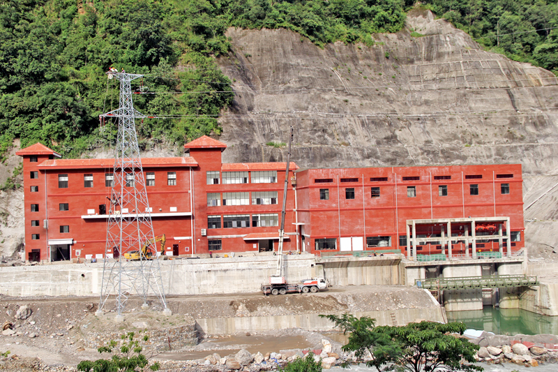An under-construction power house of 50-megawatt Upper Marsyangdi A Hydropower Project in Bhulbhule of Lamjung district, on Wednesday, September 7, 2016. Photo: RSS