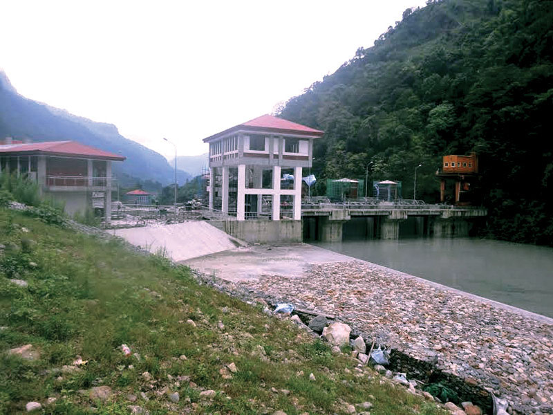 A view of Upper Marsyandi A Hydropower Project site, in Lamjung, on Saturday, September 3, 2016. Photo: THT