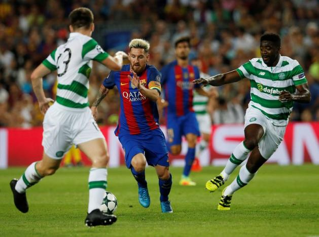 Football Soccer - FC Barcelona v Celtic - UEFA Champions League Group Stage - Group C - The Nou Camp, Barcelona, Spain - 13/9/16nBarcelona's Lionel Messi in actionnReuters / Albert Gea