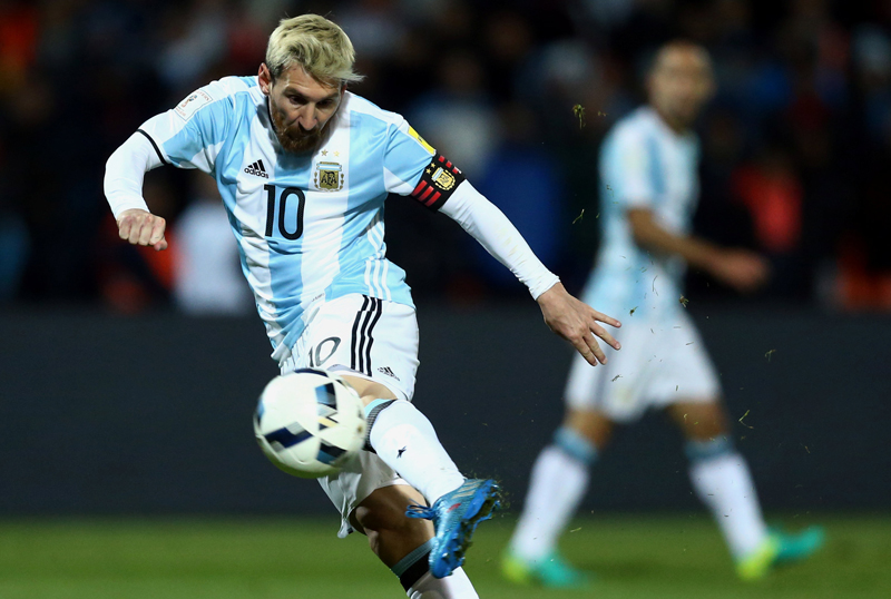Argentina's Lionel Messi in action. Photo: Reuters