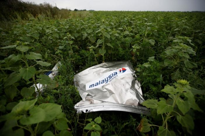 Debris from a Malaysian Airlines Boeing 777 that crashed on Thursday lies on the ground near the village of Rozsypne in the Donetsk region July 18, 2014. REUTERS/Maxim Zmeyev/File Photo