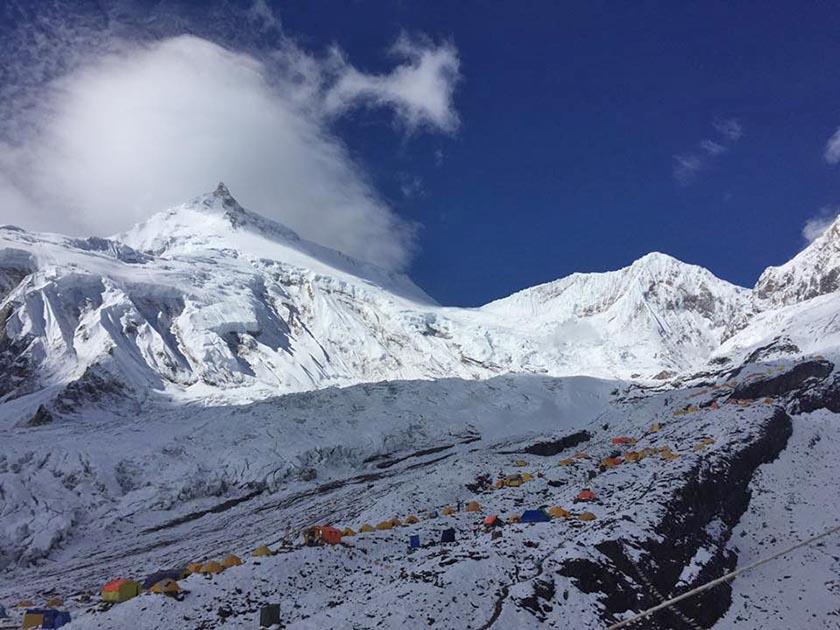 Manaslu Base Camp. Photo: Mingma Sherpa