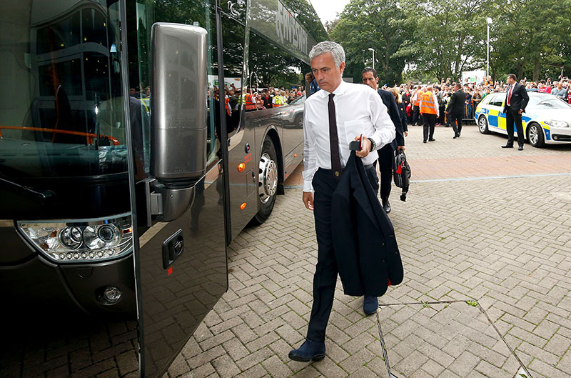 Manchester United manager Jose Mourinho arriving before his team's Premier League soccer match against Hull at the KCOM Stadium, Hull, England, on Saturday, August 27, 2016.Photo: Danny Lawson/PA via AP