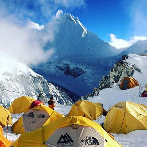 Climbers camp at the base camp of Mt Cho-Oyu in Tibet, in September 2016. Photo: Lakpa Rita Sherpa/Facebook