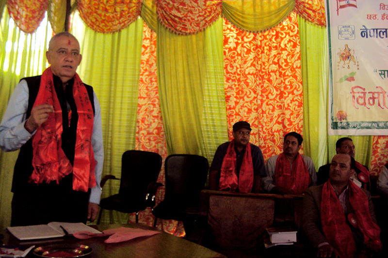 FILE- Nepali Congress General Secretary Shashanka Koirala attends a programme organised on the occasion of the upcoming Dashain festival in Kathmandu, on Thursday, September 29, 2016. Photo: RSS