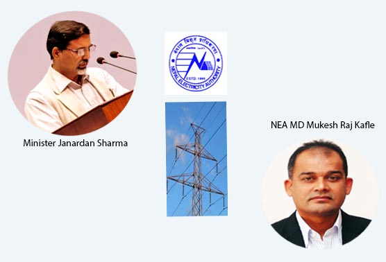 Minister for Energy Janardan Sharma had been exerting pressure on Nepal Electricity Authority's MD Mukesh Raj Kafle to resign