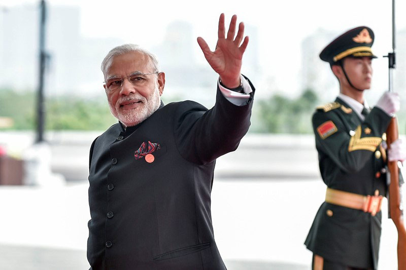 Prime Minister Narendra Modi of India arrives at the Hangzhou Exhibition Center to participate to G20 Summit, in Hangzhou, Zhejiang province, China, on September 4, 2016. Photo: Reuters