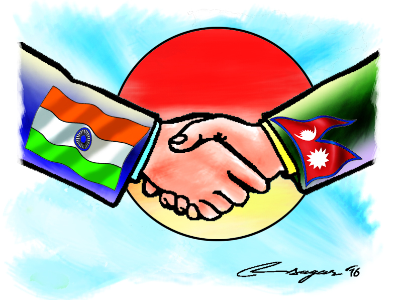 Nepal-India bilateral relations, Illustration: Ratna Sagar Shrestha/THT
