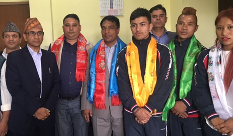 A four-member sambo team including three players on Tuesday leave for Vietnam to take part in the fifth Asian Beach Games that kicked off in Danang on Sunday, September 25, 2016. Photo: THT