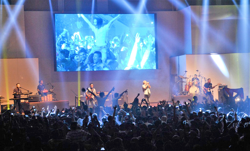 Nepal's folk rock band Nepathya performing live at the KBS Arena, in Seoul, on Thursday, September 15, 2016. Courtesy: Nepalaya