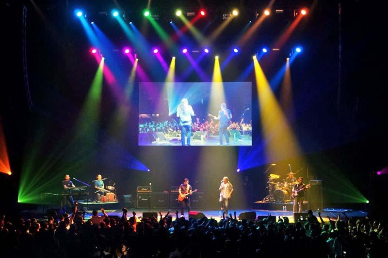 Nepal's popular folk rock band Nepathya performs at the Manhattan Centre in New York, on Saturday, September 25, 2016. Photo Courtesy: Nepalaya