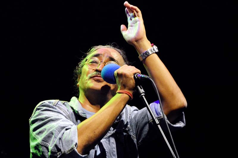 Nepathya's frontman and vocalist Amrit Gurung performs at the Manhattan Centre in New York, on Saturday, September 25, 2016. Photo Courtesy: Nepalaya