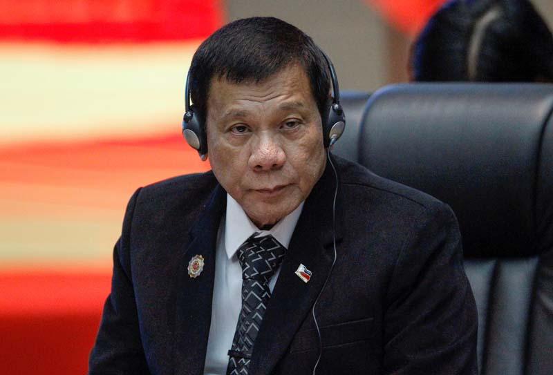 Philippines President Rodrigo Duterte attends the ASEAN Summit in Vientiane, Laos, on September 7, 2016. Photo: Reuters