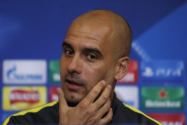 Britain Soccer Football - Manchester City Press Conference - Celtic Park, Glasgow, Scotland - 27/9/16nManchester City manager Pep Guardiola during the press conferencenAction Images via Reuters / Lee SmithnLivepic