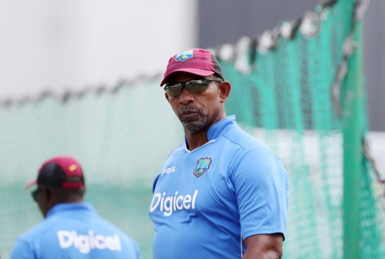 Cricket - West Indies Nets - Kensington Oval, Barbados - 28/4/15nWest Indies head coach Phil Simmons during netsnAction Images via Reuters / Jason O'Brien