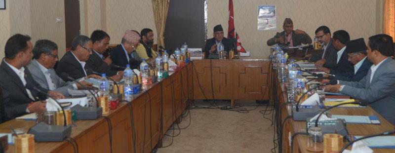 Prime Minister Pushpa Kamal Dahal chairs the Cabinet meeting, in Kathmandu, on Thursday, September 29, 2016. Photo: PM's Secretariat