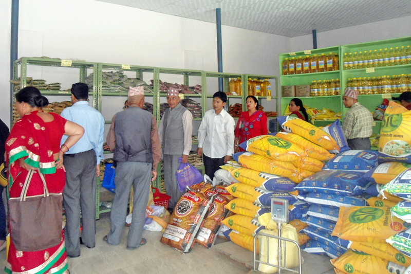 Consumers throng Fair Price Shop at Jadibuti operated by Nepal Salt Trading Ltd in Kathmandu, on Wednesday, September 28, 2016. Photo: RSS