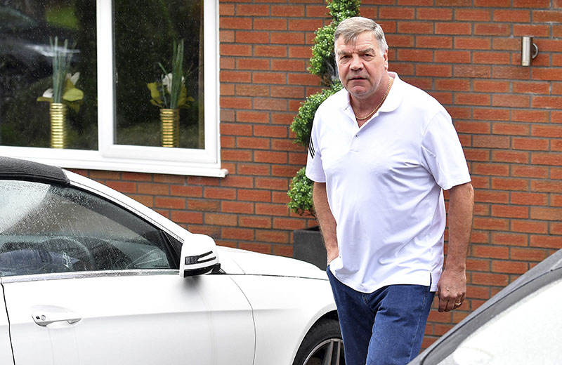 Former England soccer team manager Sam Allardyce leaves his home in Bolton, England, on Wednesday September 28, 2016. Photo: Dave Howarth PA via AP
