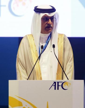 AFC President and FIFA Vice President Shaikh Salman bin Ebrahim al Khalifa speaks at the 26th Asian Football Confederation (AFC) Congress in Manama Congress in Manama, Bahrain April 30, 2015. REUTERS/Hamad I Mohammed/Files