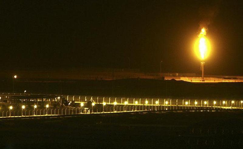 Shaybah oilfield complex is seen at night in the Rub' al-Khali desert, Saudi Arabia, on November 14, 2007. Reuters