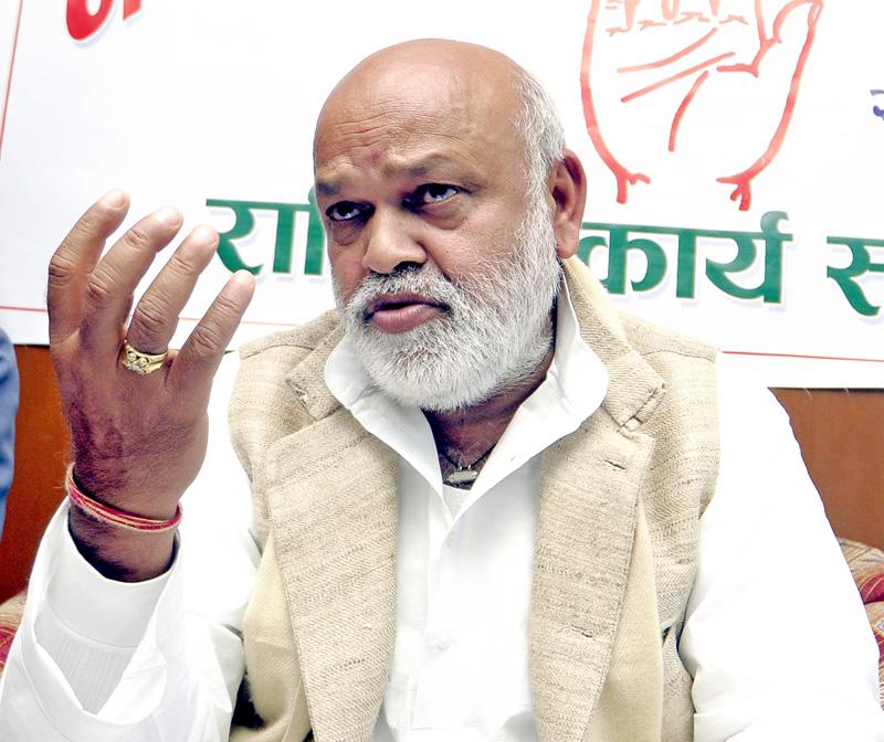 File photo of former minister Shyam Sundar Gupta. Photo: THT