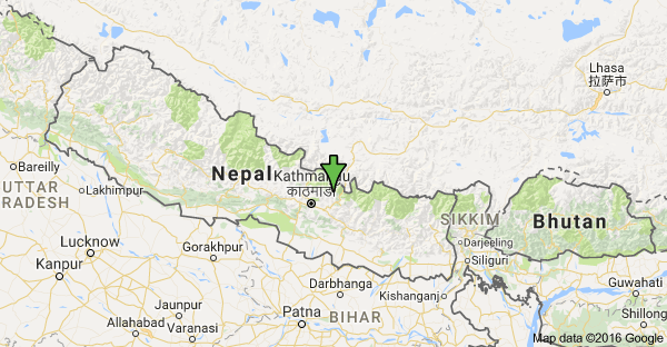 The tremor's epicentre was between Panphung and Pantang, north of the district headquarters Chautara.