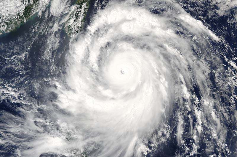 Super Typhoon Meranti is seen approaching Taiwan in an image from the MODIS instrument aboard NASA's Aqua satellite taken at 1:10 am on September 13, 2016. Photo: NASA via Reuters