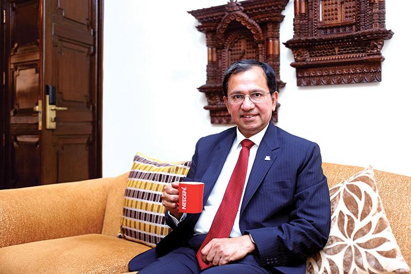 Suresh Narayanan, the Chairman and Managing Directorof Nestlu00e9 India Limited. Photo: Bikesh Prajapati/THT