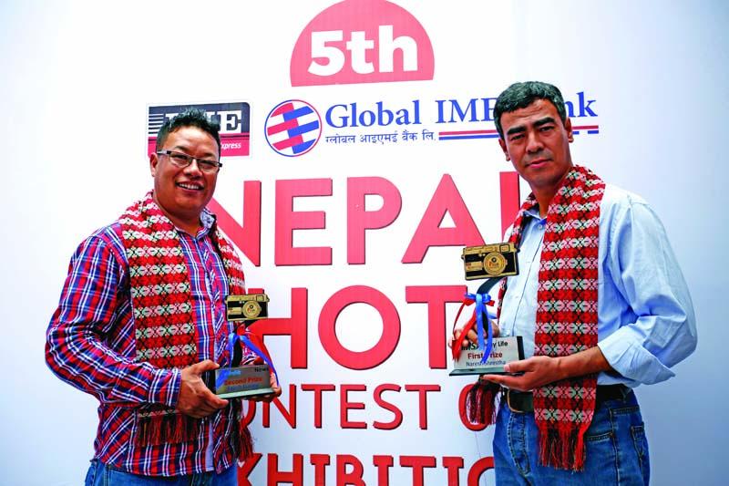 THT's photojournalists Rajesh Gurung and Naresh Shrestha. Photo: THT