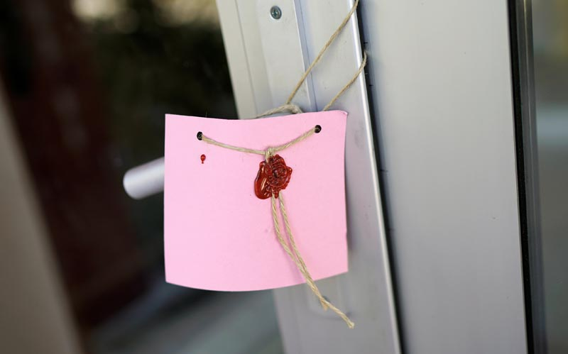 File- The seal is seen on a gate of a girls dormitory which was sealed by Turkish authorities over alleged links to the followers of US based cleric Fethullah Gulen, who Turkey accused of staging a coup attempt in July, in Ankara, Turkey, on August 16, 2016. Photo: Reuters
