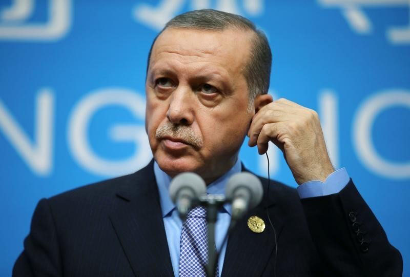 Turkey's President Tayyip Erdogan holds a news conference after the closing of the G20 Summit in Hangzhou, Zhejiang province, China, on September 5, 2016. Photo: Reuters