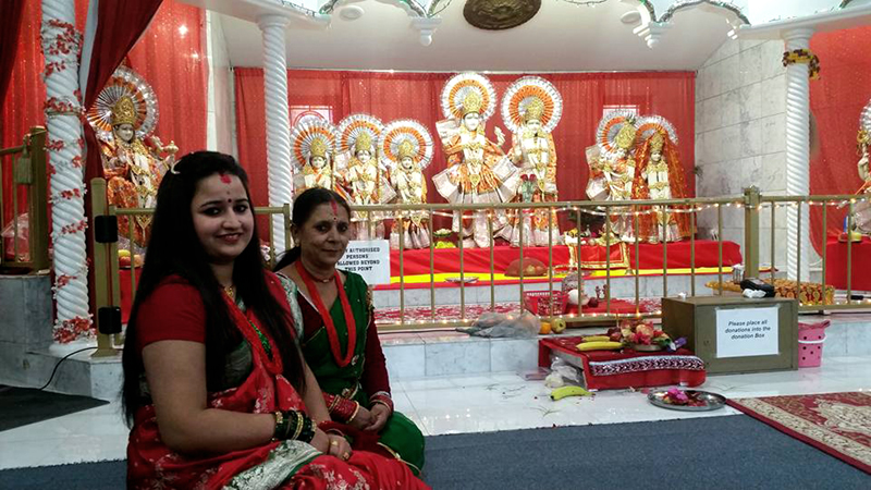 Nepali Diaspora in Australia while celebrating the Teej Festival at a newly constructed Laxmi Narayan temple at Brisbane, on Wednesday, September 07, 2016. Photo: RSS