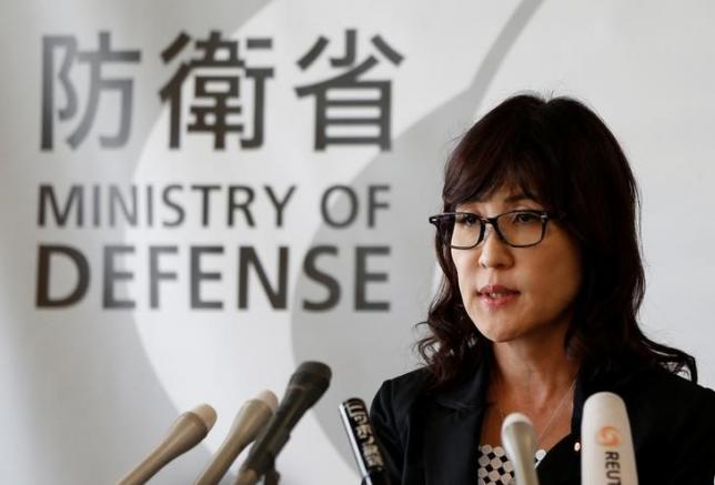 Japan's Defense Minister Tomomi Inada speaks during a news conference after National Security Council (NSC) meeting with prime minister Shinzo Abe and other ministers on a suspected nuclear test by North Korea, at Defense Ministry in Tokyo, Japan, September 9, 2016. REUTERS/Issei Kato