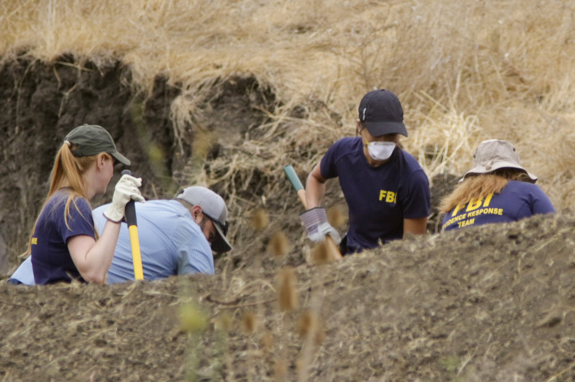 The FBI and San Luis Obispo County Sheriff's Department continue their dig and investigation on the hillside above Cal Poly related to the disappearance of student Kristin Smart two decades ago, Thursday, Sept. 8, 2016 in San Luis Obispo, Calif. Kristin Smart, 19, of Stockton, was last seen in the early morning of May 25, 1996, while returning to her dorm after an off-campus party. (David Middlecamp/The Tribune (of San Luis Obispo)