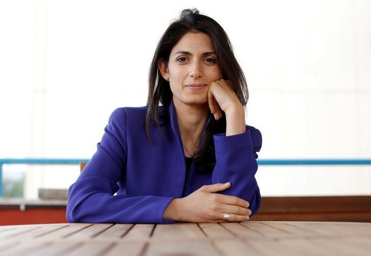 Virginia Raggi, the anti-establishment 5-Star Movement's candidate for Rome's mayor, poses during an interview with Reuters in Rome, Italy May 19, 2016. REUTERS/Tony Gentile/File Photo
