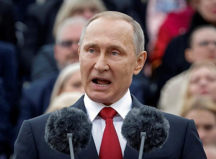 Russian President Vladimir Putin speaks during the celebrations for the City Day in Moscow, Russia September 10, 2016.  REUTERS/Sergei Karpukhin