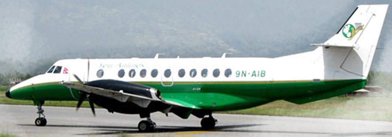 FILE: Yeti Airlines' 9N-AIB aircraft. Photo: Yeti Airlines