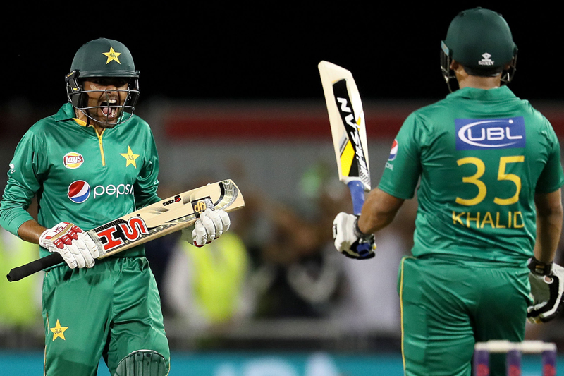 File - Pakistan's Babar Azam celebrates hitting the winning runs against England, during the Twenty20 match between England and Pakistan, at Old Trafford, in Manchester, England, on Wednesday, September 7, 2016. Photo: AP