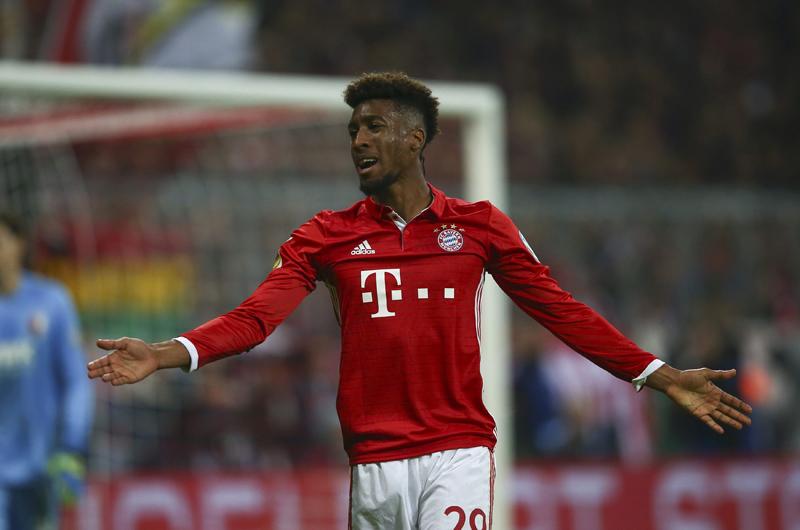 Bayern's Kingsley Coman reacts. Photo: Reuters